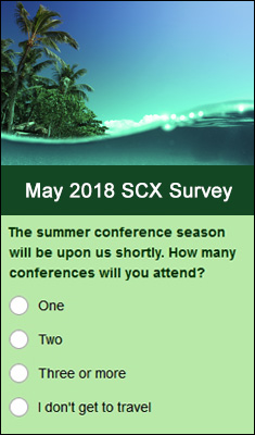May 2018 Monthly Survey