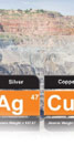 Ag and Cu in ore