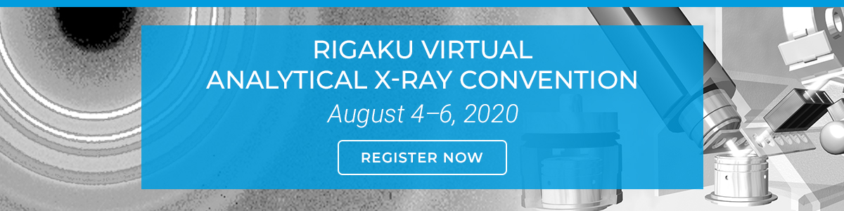 Rigaku's Virtual Analytical X-ray Convention