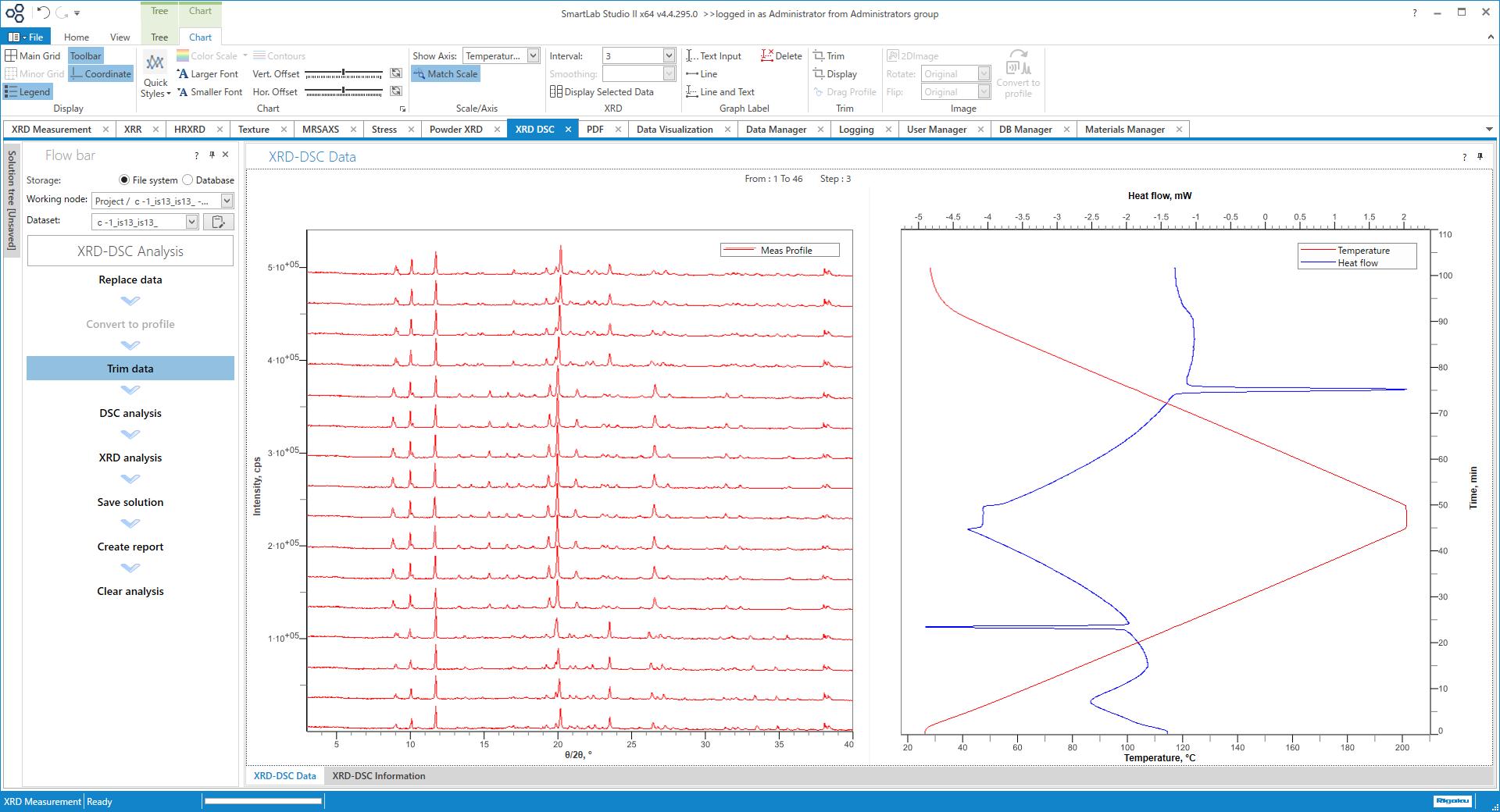 XRD-DSC  Visualization Plugin