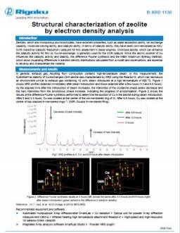 XRD1136: Structural characterization of zeolite by electron density analysis