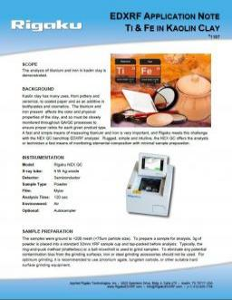XRF application note 1187