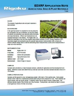 XRF1385: Agricultural Soils & Plant Materials