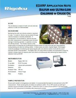 XRF1432: Sulfur And Ultra-Low Chlorine In Crude Oil