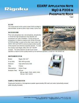 XRF1587: MgO & P₂O₅ in Phosphate Rock