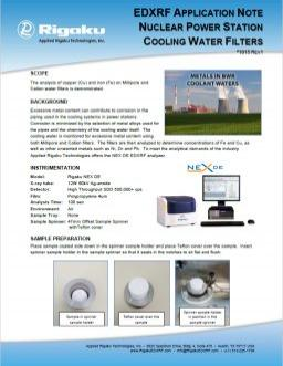 XRF1915: Nuclear Power Station Cooling Water Filters