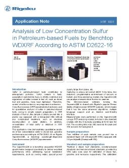 XRF application note XRF1081