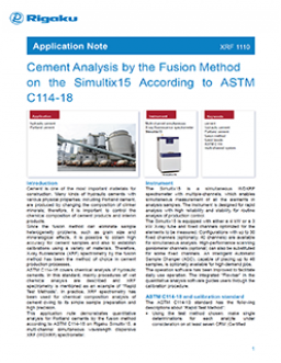 Cement Analysis by the Fusion Method on the Simultix15