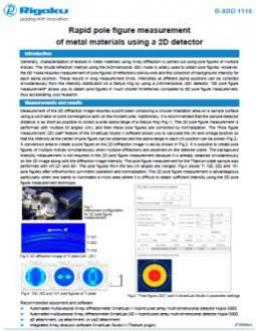 AppNote XRD1118: Rapid pole figure measurement of metal materials using a 2D detector