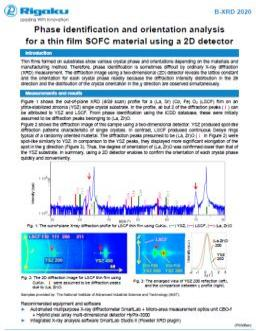 AppNote XRD2020: Phase identification and orientation analysis for thin film SOFC material using a 2D detector