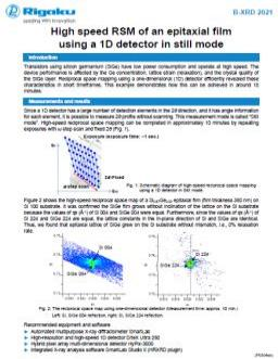 AppNote XRD2021: High speed RSM of an epitaxial film by 1D detection mode
