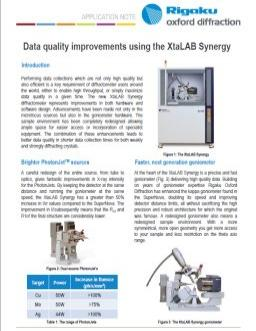 Data quality improvements using the XtaLAB Synergy
