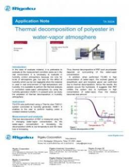 TA-5004: Thermal decomposition of polyester in water-vapor atmosphere