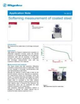 TA-5013: Softening measurement of coated steel