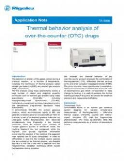 TA-6006: Thermal behavior analysis of over-the-counter (OTC) drugs