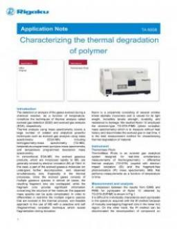 TA-6008: Characterizing the thermal degradation of polymer