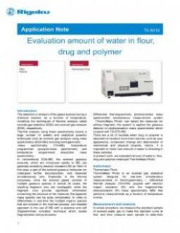 TA-6012: Evaluation amount of water in flour, drug and polymer