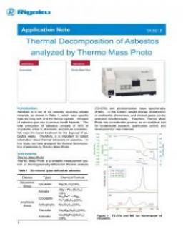 TA-6015: Thermal Decomposition of Asbestos analyzed by Thermo Mass Photo