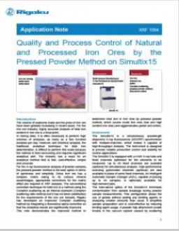 AppNote XRF1094: Quality and Process Control of Natural and Processed Iron Ores by the Pressed Powder Method on Simultix15