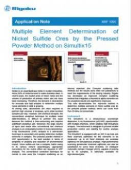 AppNote XRF1095: Multiple Element Determination of Nickel Sulfide Ores by the Pressed Powder Method on Simultix15