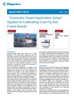 "AppNote XRF 1109: ""Automatic Quant Application Setup"" Applied to Calibrating Coal Fly Ash Fused Beads"